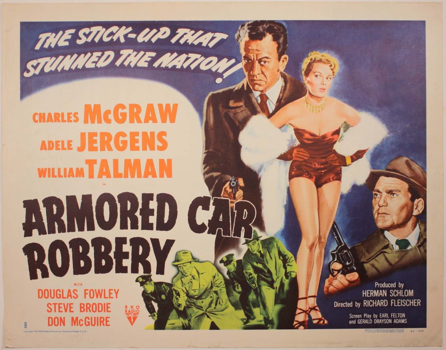 complete classic movie armored car robbery 1950